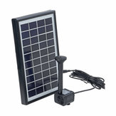 4W 10V 380L/H Solar Panel Water Pump Landscape Pond Pool Aquarium Floating Fountain with 6 Nozzles