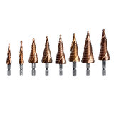 M35 Cobalt Step Drill Bit 1/4 Inch Hex Shank HSS-Co Step Drill Bit Spiral Grooved Hole Cutter