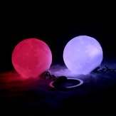 Portable Moon Light 3D-Druck Schlüsselbund Colorful LED Nachtlampe Creative Batterie Powered Bag Decor