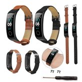 Bakeey Ultra-thin Genuine Leather Replacement Watch Band for Huawei Honor Band 5&4 Smart Watch