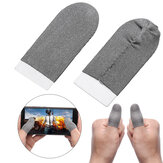 Bakeey 1 Pair Breathable Game Controller Finger Touch Screen Gloves Sweat Proof Gaming Finger Gloves Non-Scratch Sleeve Sensitive Nylon Mobile Touch for PUBG Mobile Game