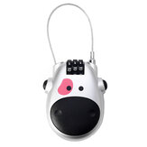 Digit Password Padlock Motorcycle Helmet Combination Lock Safety Adjustable Cartoon Cow Carriage Fashion Steel Cable Luggage Travel Accessories