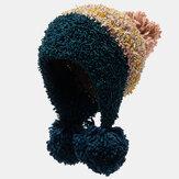 Женская шапка стильная теплая вязаная Шапка