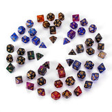 7Pcs Galaxy Polyhedral Dices For Dungeons Dragons Games D20 D12 D10 D8 D6 D4 + Saco