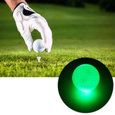 6 piezas 1.6 pulgadas LED pelotas de golf Dark Night Luminous Sports Ball