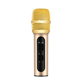 Professional Karaoke Condenser Microphone Portable with ECHO Sound Card for Mobile Phone Broadcast Live