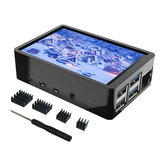 3.5 Inch LCD Touch Screen TFT Monitor With Case Heatsink for Raspberry Pi 4/4B