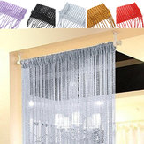String Door Curtains Bead Window Panel Room Divider Crystal Tassel Fringe Beaded
