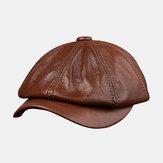 الرجال جلد البقر قبعة جلدية المد قبعات البحرية قبعة مثمنة