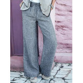 Women Cotton Elastic Waist Harem Pants