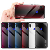 Bakeey Gradient Striped Shockproof Tempered Glass&Soft TPU Protective Case For Xiaomi Redmi Note 7 / Redmi Note 7 Pro