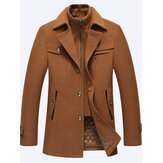 Manteau chaud double couche occasionnel de veste de mode