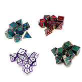 7PCS Metal Polyhedral Dices Set For Dungeons and Dragons Dice Desktop Table RPG Game