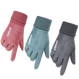 Women Winter Warm Gloves Touch Screen Windproof Anti-slip Thermal Outdoor Sports Skiing Gloves