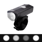 NQY 0112 # 350LM 300M 120 ° Grande Floodlight 4Modes USB Farol de bicicleta recarregável Poratble Mini IPX6 Waterproof Bike Light