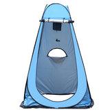 خيمة واحدة التلقائي التخييم المضادة للأشعة فوق البنفسجية ظلة شاطئ خيمة المرحاض مع حقيبة التخزين
