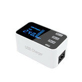 3USB Port USB Charger Type C LCD Display Charger 100-240V Charging Station