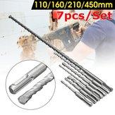7 قطع 6-12 ملليمتر sds Plus عرقوب الكهربائية Hammer مجموعة مثقاب كربيد تلميح البناء ملموسة الطوب مثقاب