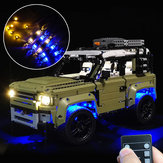 LED Light Lighting Kit ONLY For LEGO 42110 Land Rover Defender Car Bricks Toys with Remote Control