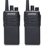 2 stks Baofeng BF-V9 Mini Walkie-talkie USB Snel opladen 5W UHF 400-470 MHz Ham CB Portable Two Way Radio