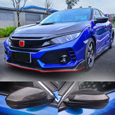Carbon Fiber Style Rear View Side Car Mirror Trim Cover Caps For Honda Civic 16-2018