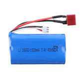 HB 7.4V 1500mAh 2S T Plug Li-ion Battery for ZP1001 1/10 RC Vehicles Car Model Spare Parts