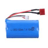 HB 7.4 V 1500 mAh 2S T Plug Li-ion Bateria para ZP1001 1/10 RC Veículos Modelo de Carro Peças De Reposição