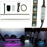 1M RGB LED Strip Light Bar Lamp til M365/M365 Pro elektrisk scooter
