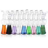 Mini pipa de agua de vidrio Borosilicato Vidrio Negro / Esmeralda / Verde / Púrpura / Rosa / Transparente / Azul / Amarillo