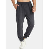 Mens Jogger Casual Sports Sweatpants Elastic Tapered Trouser