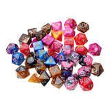 42Pcs Polyhedral Dice Set Multi-sied Dices For Dungeons & Dragons DND MTG RPG D4-D20 Game + Bag