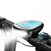 Bicicleta eléctrica Luz delantera Bicicleta Faro de ciclismo Campana Impermeable Bocina Altavoz de carga USB