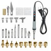 29Pcs 110V Set penna per bruciare il legno Stencil saldatura Ferro Strumenti Kit Pirografo Craft Nuova incisione digitale saldatura Set di ferro