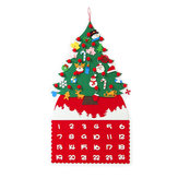 Felt DIY Christmas Tree Advent Calendar Children Craft Toy Hanging Decorations