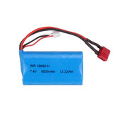 7.4V 1800mAh 10C 2S T Plug Li-ion Battery for RBRC RB1277A 1/12 RC Vehicels Model