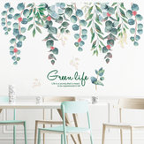 Loskii FX82118 Green Life Green Vines Leaves Wall Sticker Bedroom Living Room Background Decoration Mural Home Art Decal