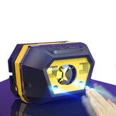XANES® 605A 650LM XPE + SMD Inteligentny czujnik Mini reflektor 2 tryby USB Akumulator Wodoodporny Outdoor Riding Wędkarstwo Latarka