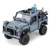 MN Model MN96 1/12 2.4G 4WD Proportionele regeling Rc Auto met LED-lichtklimmen Off-Road Truck RTR Speelgoed Blauw