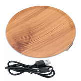 Bakeey 20W Qi Wood Grain Wireless Charger Pad Quick Fast Charger Base Plate for Samsung Huawei