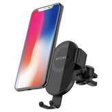 BlitzWolf® BW-CW1 10W 7.5W 5W 360°Rotation Qi Wireless Charger Car Phone Holder Automatic Clamping for iPhone 11 Pro XR X for iPhone 12 12 Mini 12 Pro For Samsung Galaxy Note 20 Xiaomi Mi9 Mi10 Huawei Mate 40 Pro