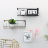 Wall Mounted Rustic Metal Wire Floating Storage Shelf Rack for Picture Frames Collectibles Decorative Items