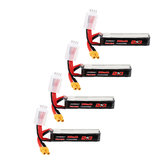 4Pcs URUAV 11.4V 300mAh 70C/140C 3S Lipo Battery XT30 Plug for RC FPV Racing Drone