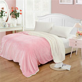 Soft Warm Plush Lamb Fleece Blankets Throw Rug Coral Flannel Throws Napping Blankets Bedding