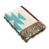 Retro Navajo Amerikaanse stijl Geometrische Popcap bekleding Leisure tapijt airconditioning Sofa dekens