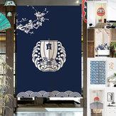 Japanese Noren Door Curtains Drape Tapestry Bar Kitchen Bath Room Divider Decor