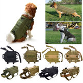 Tactical K9 Dog Military Police Molle Weste Nylon Service Hundegeschirr XL