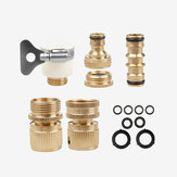 1/2'' 3/4'' Brass Male Female Connector Garden Quick Connect Adapter Water Hose Pipe Connectors Fitting Switch w/  Washers Standard Joint for Car Pressure Washing