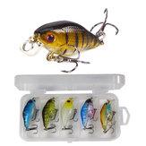 ZANLURE 5 Pcs/Set 6cm Hard Bait Spinning Jigging Fishing Lure