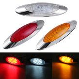 12V 6,5 polegadas Oval táxi lateral marcador luzes 16 LED moldura para caminhão barco marinho