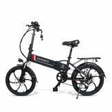[EU Direct] SAMEBIKE 20LVXD30 10.4AH 48V 350W Electric Moped Bike 20 inch E-bike 35km/h Top Speed 80km Mileage Range Double Brake System Max Load 120kg EU Plug